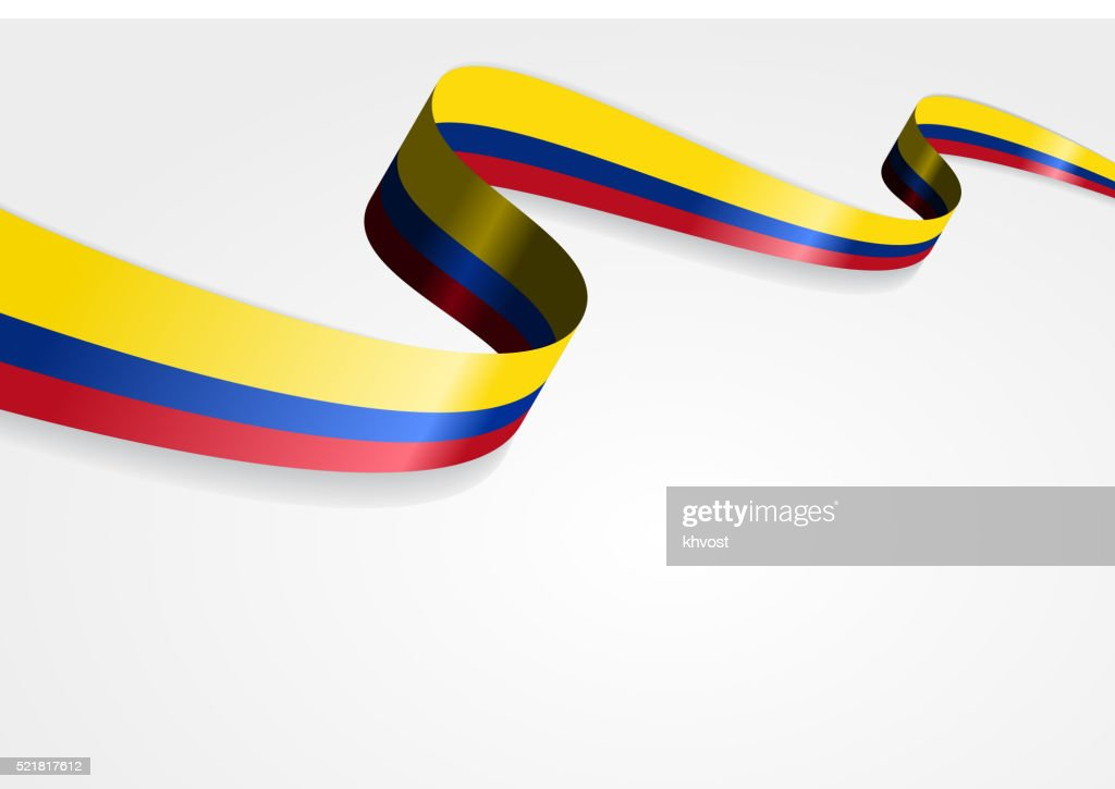 Colombian flag background. Vector illustration
