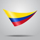 Colombian flag background. Vector illustration.