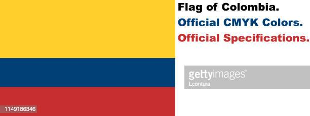 Colombian Flag (Official CMYK Colours and Specifications)