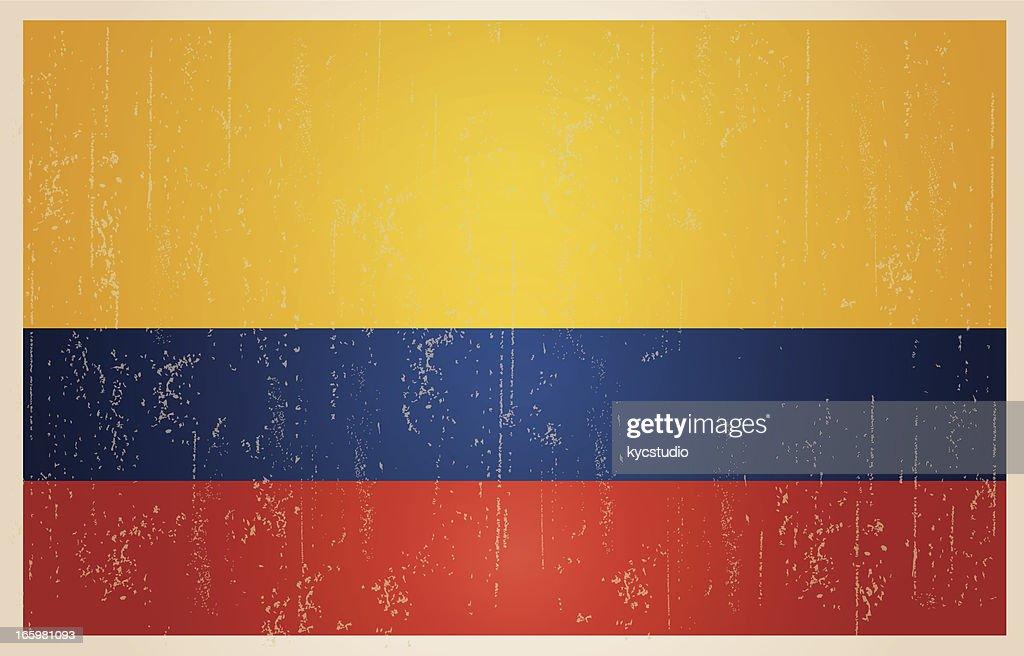 Colombian grunge vintage flag