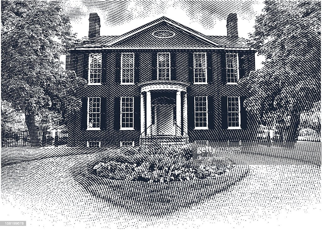 Colonial House : stock illustration