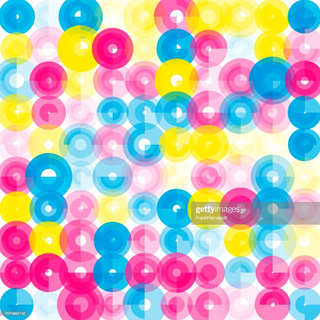 Farbe-abstrakte Kunst Kreismuster : Vektorgrafik