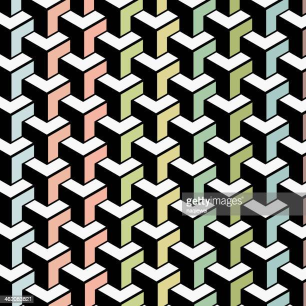 color abstract geometry shape background - part of a series stock illustrations