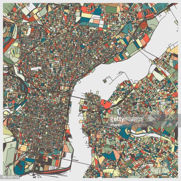 ilustraciones, imágenes clip art, dibujos animados e iconos de stock de mapa de color arte de ciudad de philadelphia - filadelfia pensilvania
