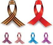 Color awareness ribbon set