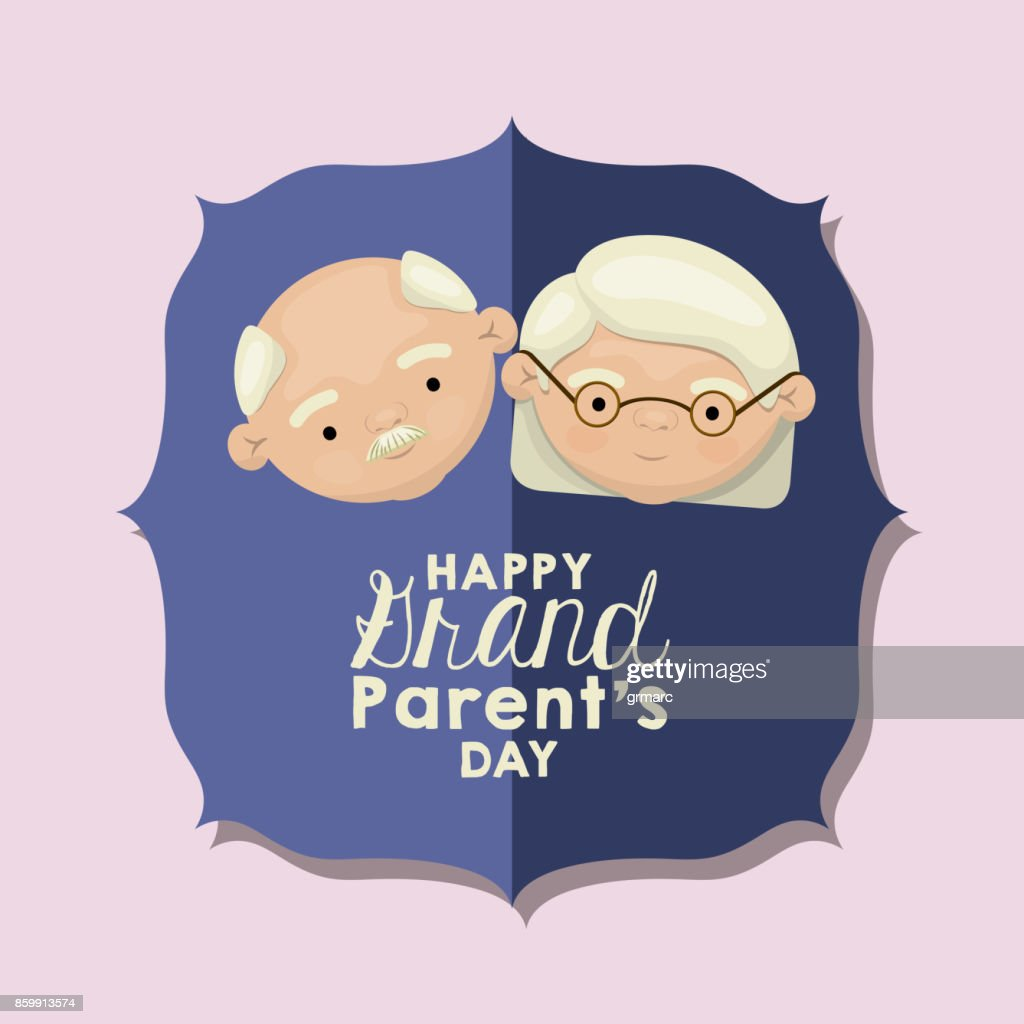 Color Background Of Figure Paper Blue Greeting Card With Caricature