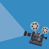 color background with movie projector