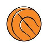color ball to play basketball icon