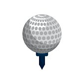 color ball to play golf icon