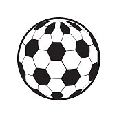 color ball to play soccer icon