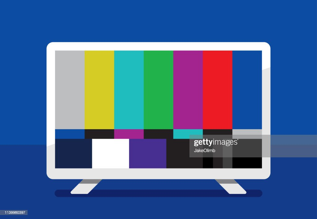 HDTV Color Bars Icon Flat : stock illustration