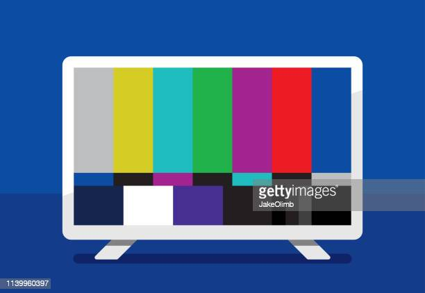hdtv color bars icon flat - problems stock illustrations
