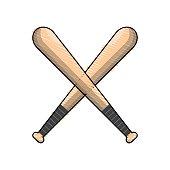 color baseball bats to play icon