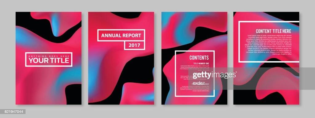 Color blend page design set : stock illustration