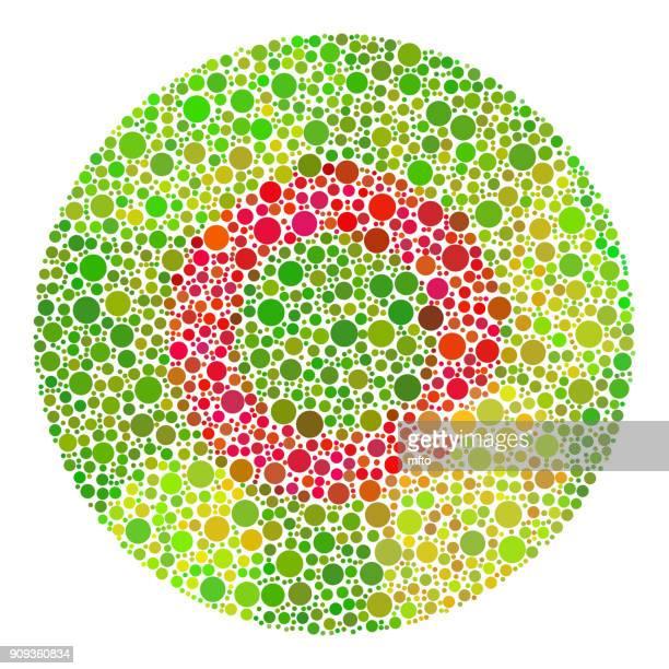 ilustrações, clipart, desenhos animados e ícones de teste de daltonismo para crianças - color blindness