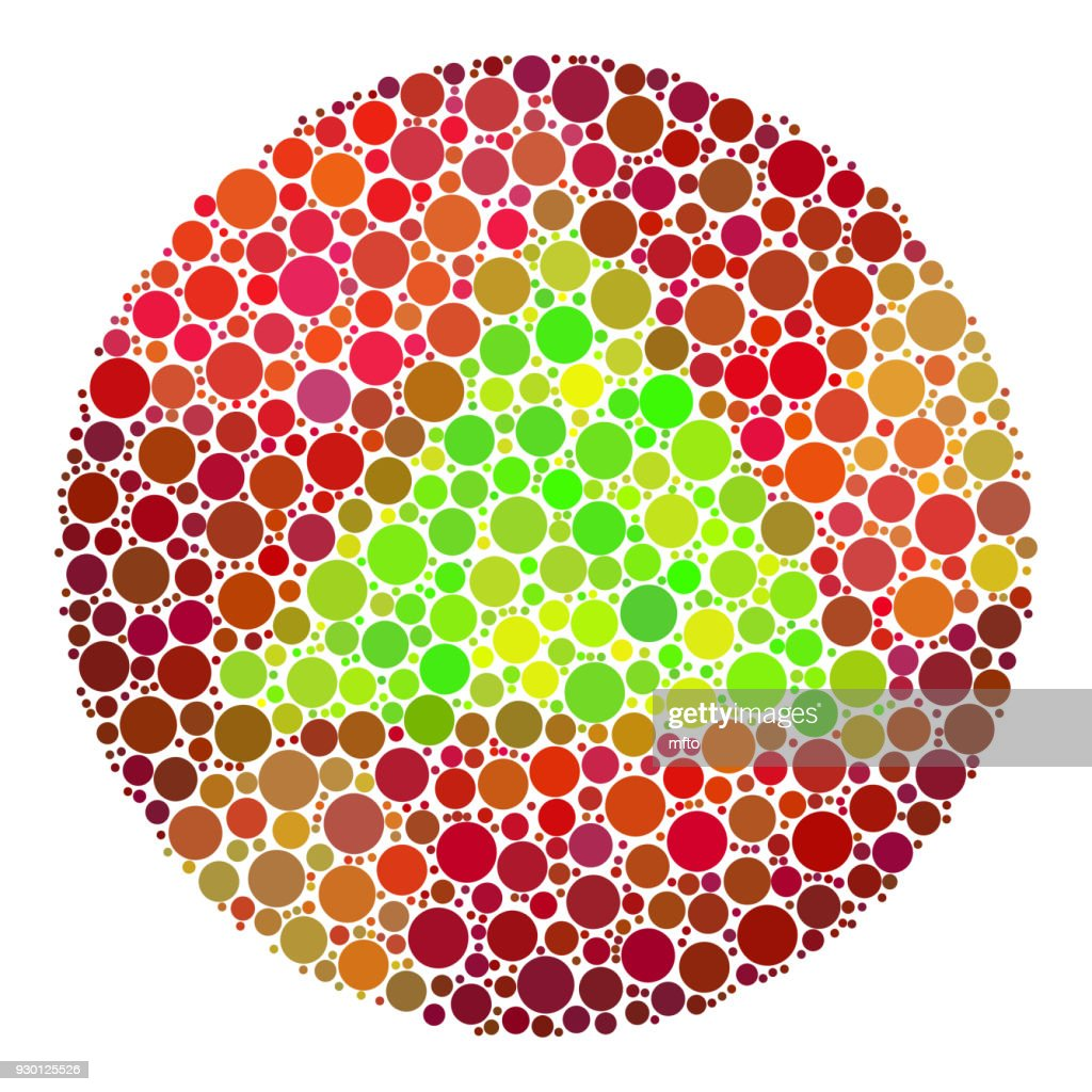 Color Blindness Test For Children Vector Art | Getty Images