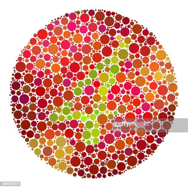 ilustrações, clipart, desenhos animados e ícones de teste de daltonismo - color blindness