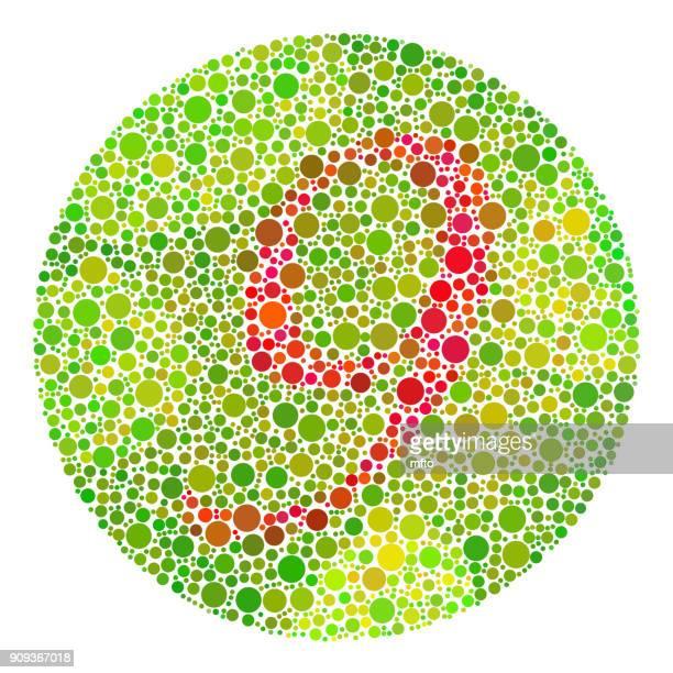 color blindness test - number 9 stock illustrations