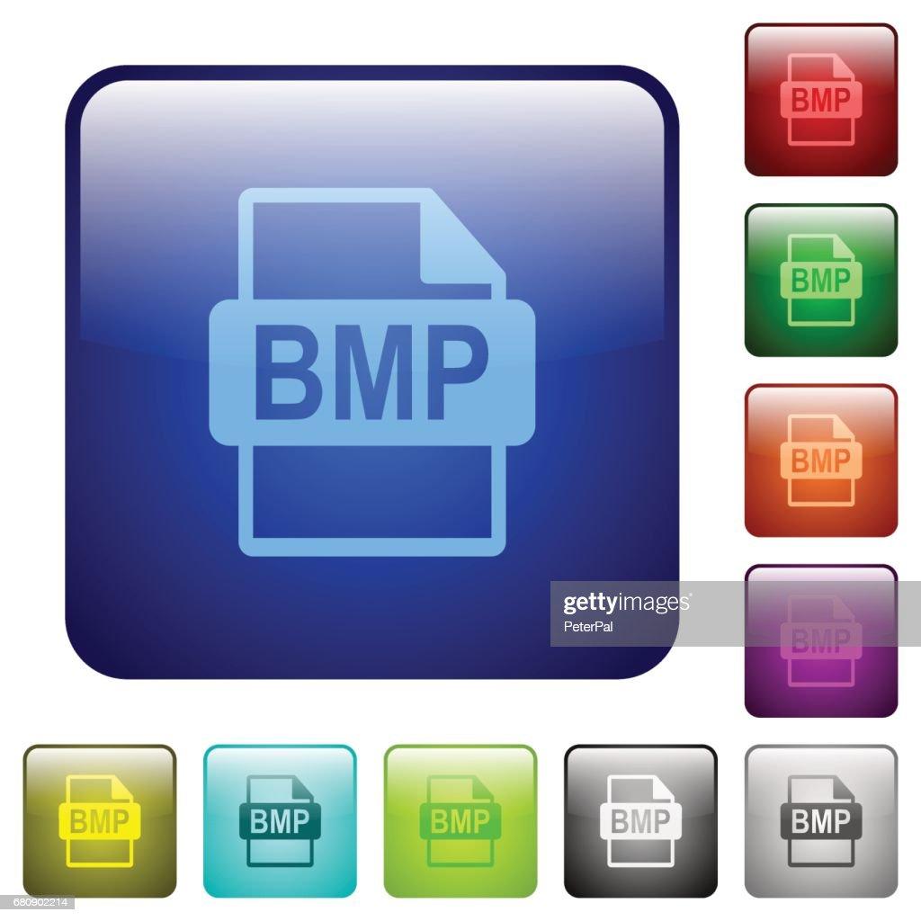 Color BMP file format square buttons