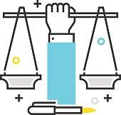 Color box icon, civil rights illustration, icon