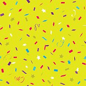 Color bright pattern with flying graphic elements.