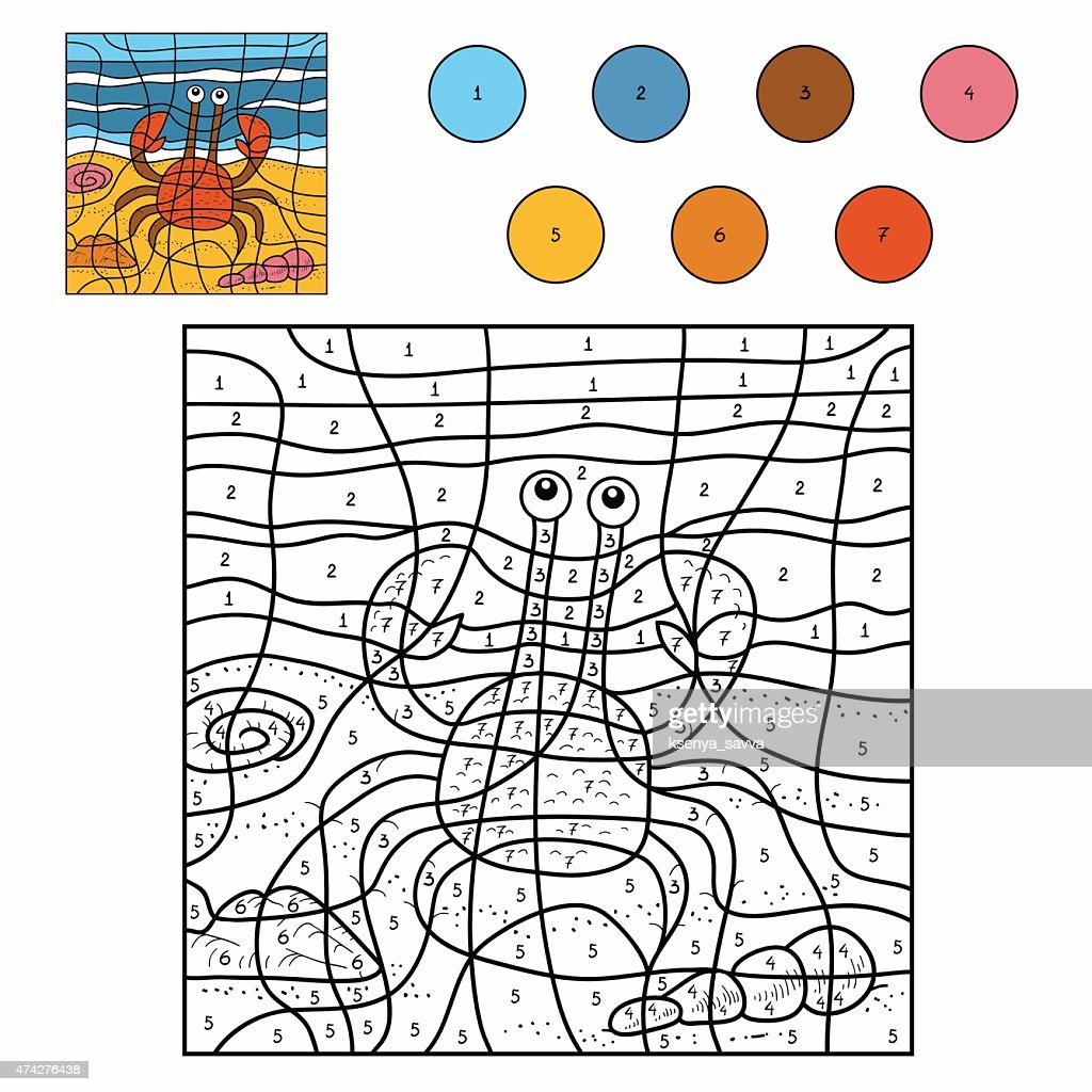 Color by number (crab)