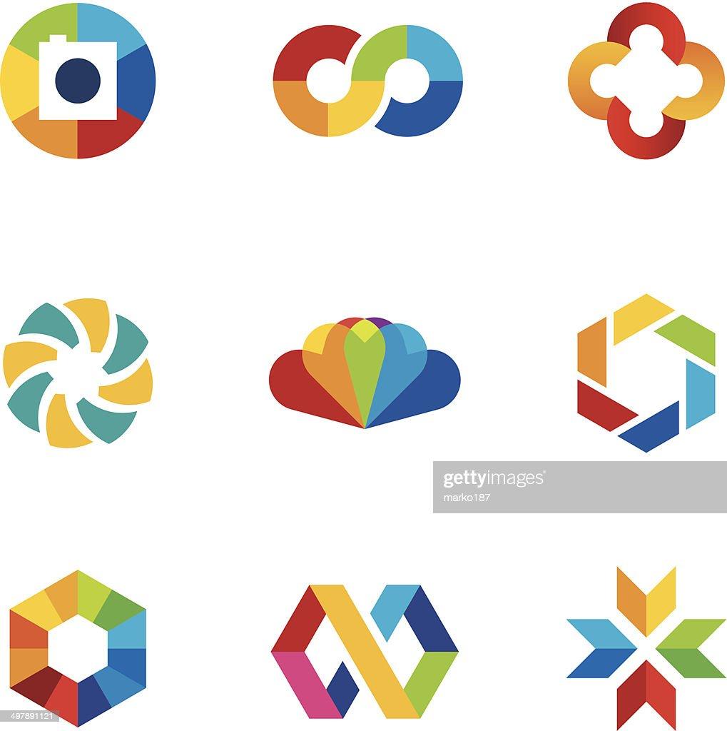 Color capture imagination limitless education share community logo icon set