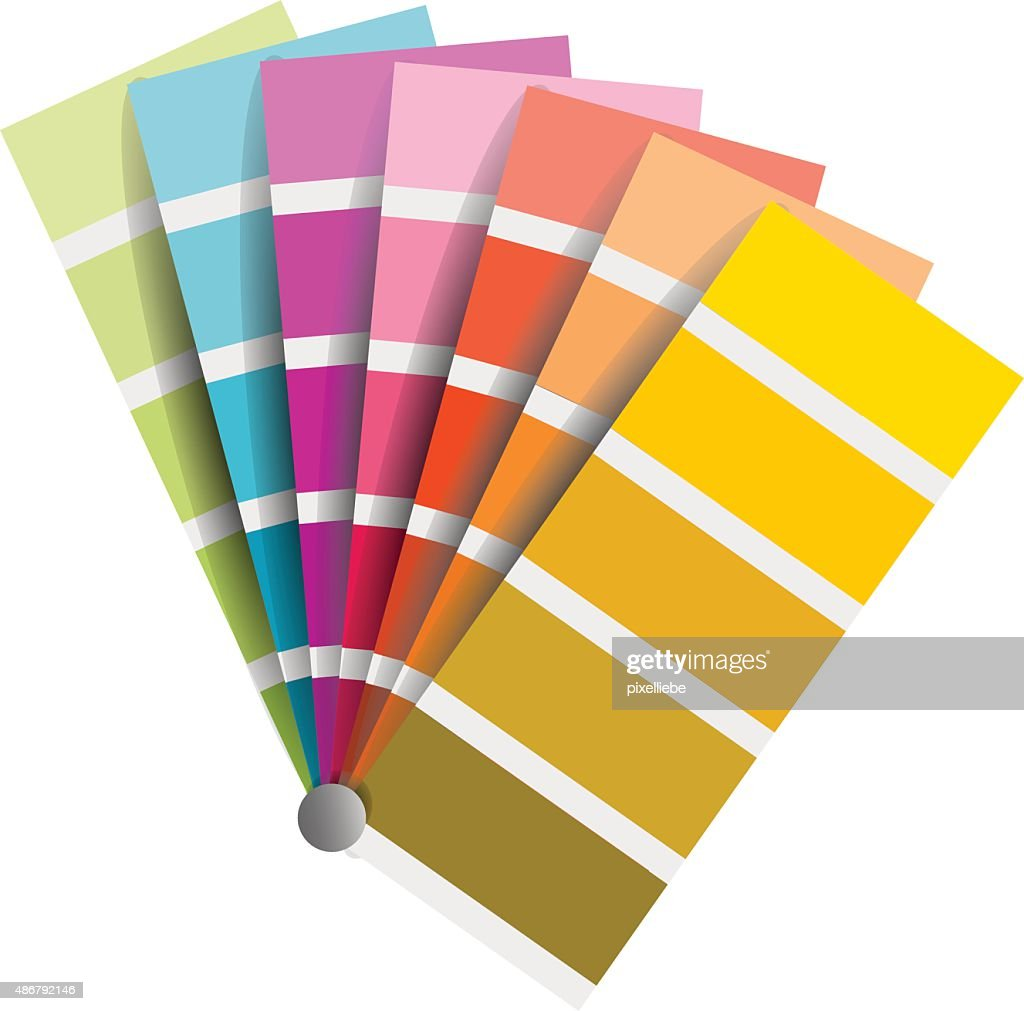 color chart vector on white background