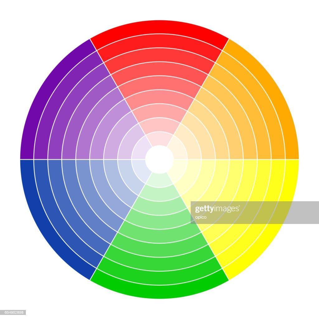 Color circle 6 colors