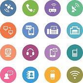 Color Circle Icons Set | Communication
