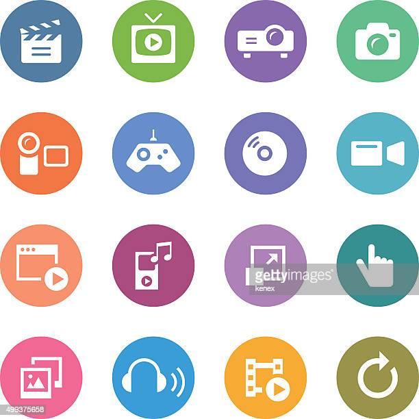 Color Circle Icons Set | Media