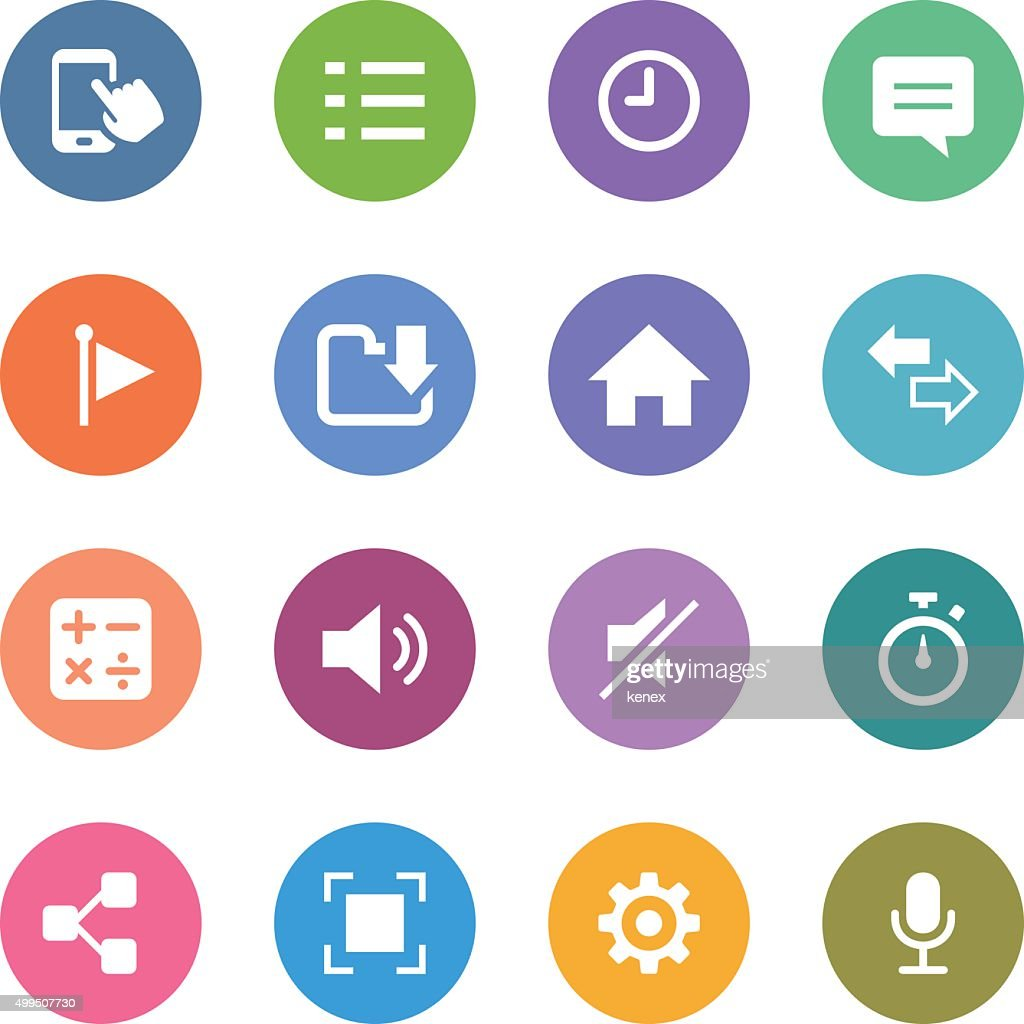 Color Circle Icons Set | Mobile Apps