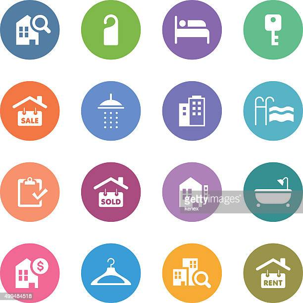 Color Circle Icons Set | Real Estate