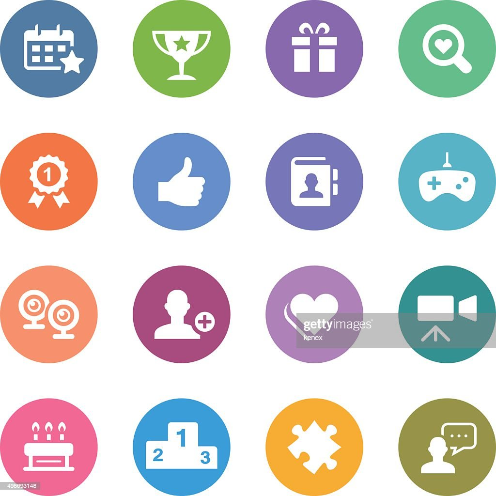Color Circle Icons Set | Social Media