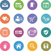 Color Circle Icons Set | Web & Internet
