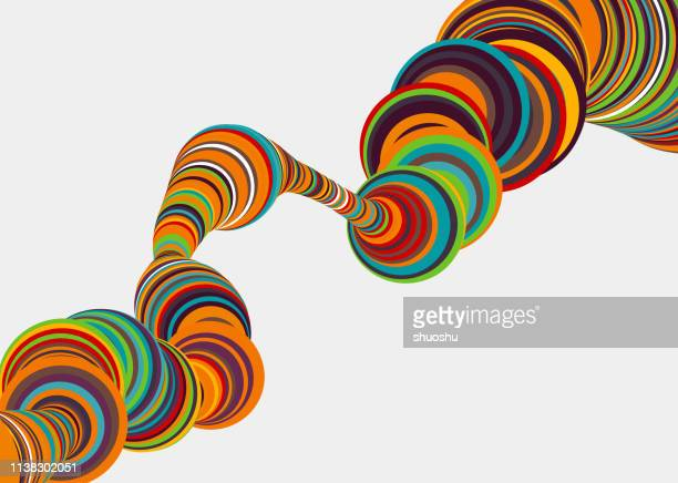 color circle stripe motion pattern background - digital composite stock illustrations