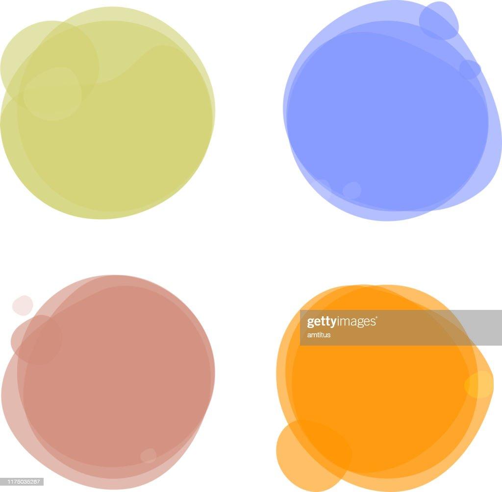 cercles de couleur : Illustration