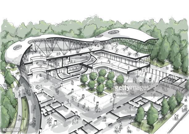 ilustraciones, imágenes clip art, dibujos animados e iconos de stock de arquitectura de la ciudad de color de dibujo - arquitectura
