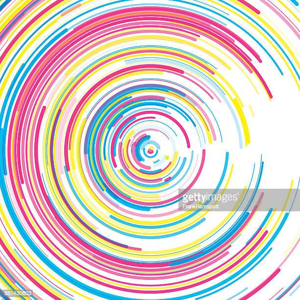 Color Concentric Circle Pattern
