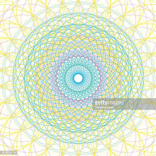 Color Concentric Circle Vector Graphic