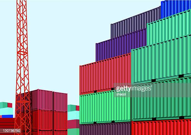 color container in freight yard