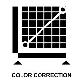 color correction Glyphs Vector Icons