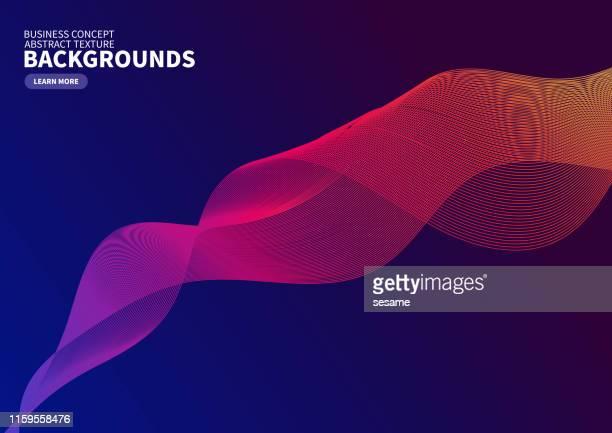 farbkurvenvektorhintergrund - wellenmuster stock-grafiken, -clipart, -cartoons und -symbole