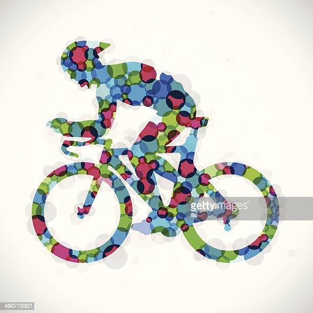 color cyclist - traditional sport stock illustrations, clip art, cartoons, & icons
