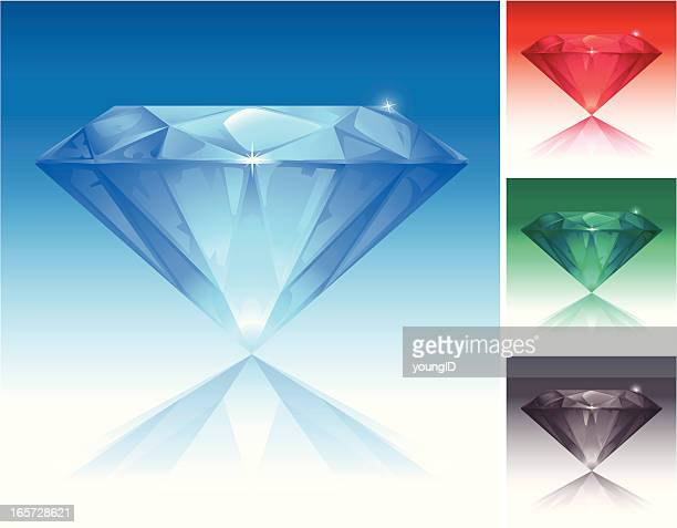 stockillustraties, clipart, cartoons en iconen met color diamonds set - saffier