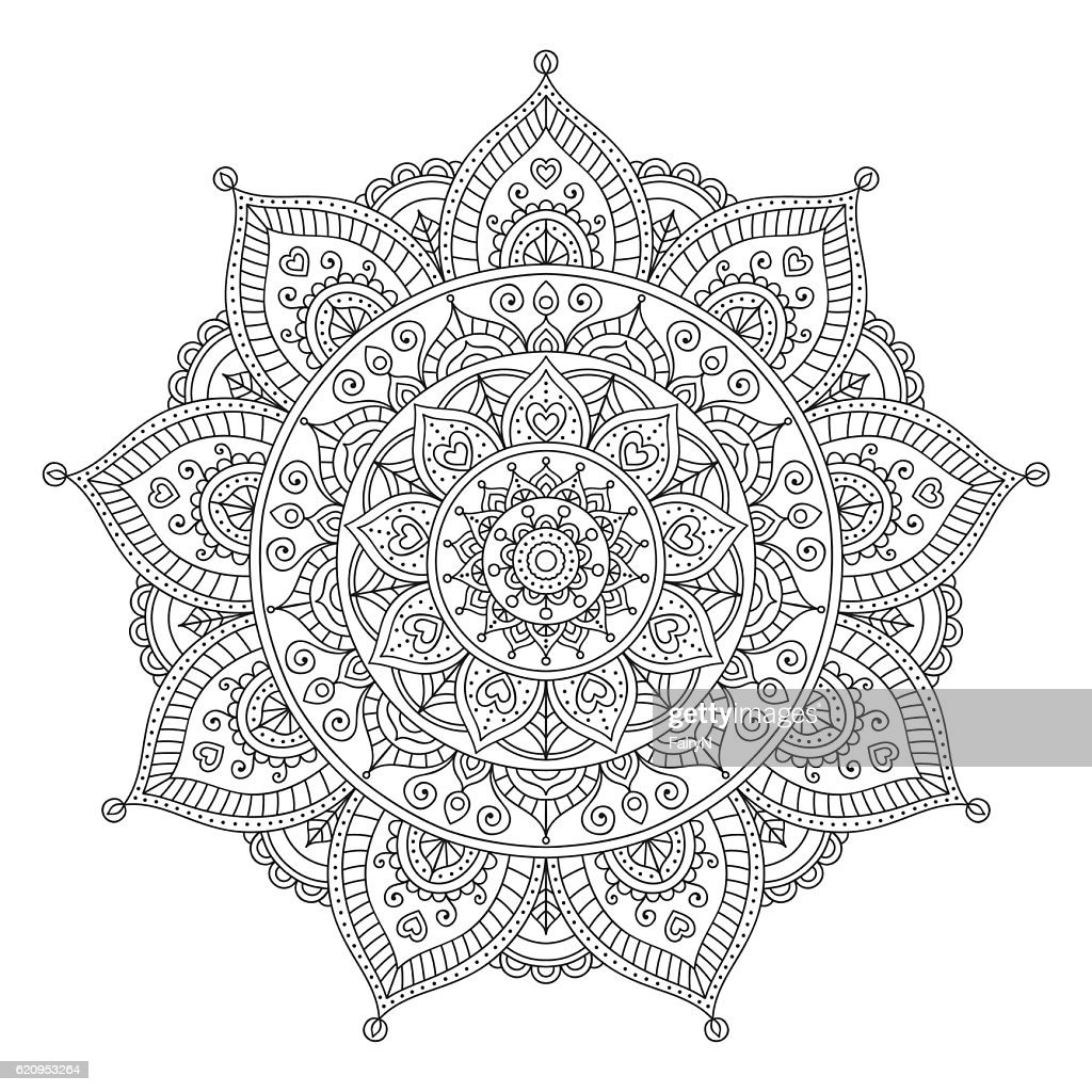 color doodle mandala