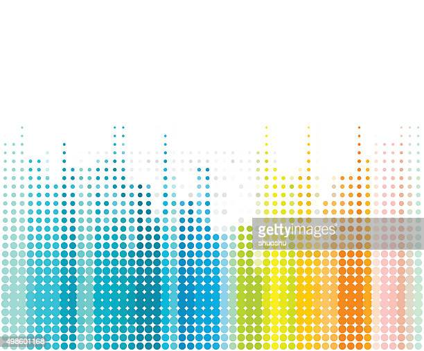 color dot technology background