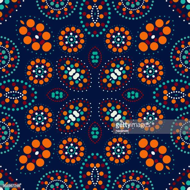 color dots pattern background - paisley pattern stock illustrations, clip art, cartoons, & icons