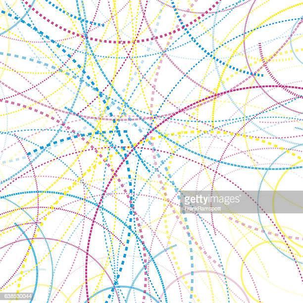 color dotted lines circle pattern - frankramspott stock-grafiken, -clipart, -cartoons und -symbole