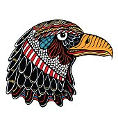 Color Eagle head